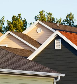 Homes with shingled roofs